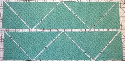 Trianglar för en löpare med fyra block.