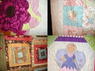 Detaljer från Veronicas kviltar.
