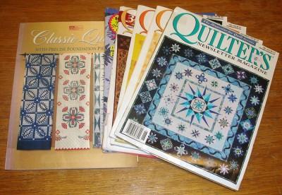 Classic Quilts with Precise Foundation Piecing, låter väl kul? Och så fem nummer av Quilters Newsletter Magazine, en av mina absoluta favoriter.