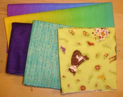 Inköpen från Quiltstudion - färg, färg, färg!