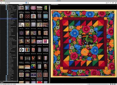 Så här ser det ut i mitt bildvisningsprogram. Till vänster alla mappar, i mitten miniatyrbilder och till höger en bild i full storlek.