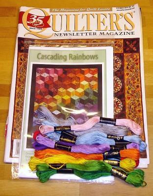 3. Ett ex av Quilters Newsletter Magazine (bra tidning!), mönster på