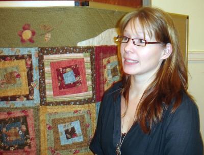 Veronica själv framför Chokolat