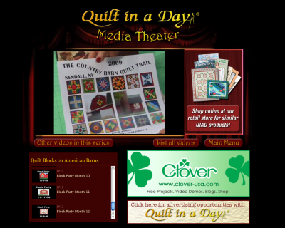 Quilt in a Day Media Theater
