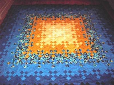 Nine patch med varannat block i färg