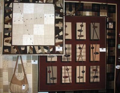 Tyger och Ting hade en stor utställning med massor av vackra kviltar, väskor och prylar.