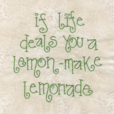 Pink lemonade text